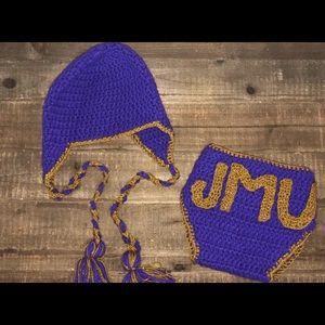 James Madison University Diaper Cover/Hat